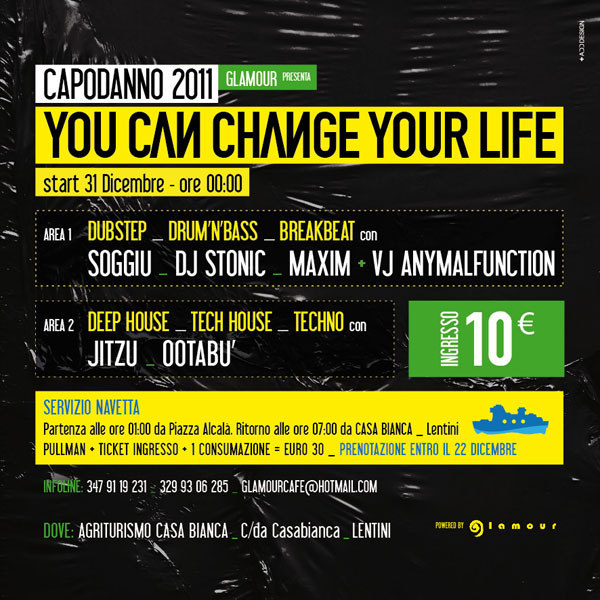You can change your life / Flyer